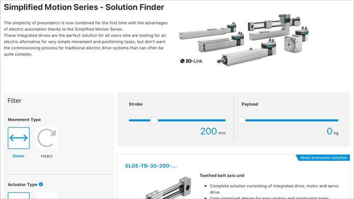 Simplified Motion Series - Solution Finder