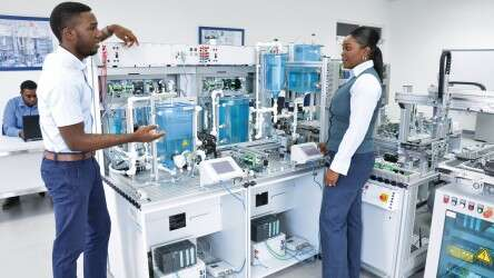 The automation lab at the FACT Centre.