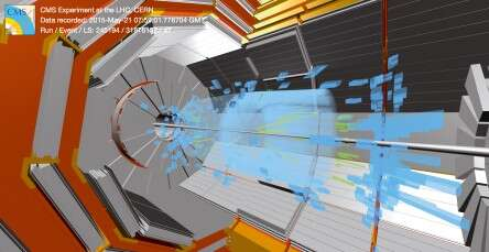 Proof: in 2012, the CERN particle accelerator provided experimental proof of the Higgs boson. The simulation shows the decay of a Higgs boson using the CMS detector.