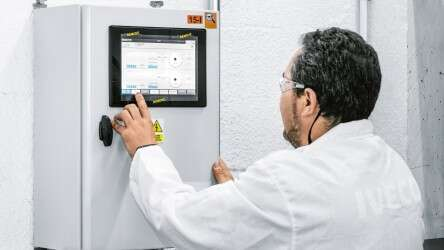The energy efficiency module is operated using a touch screen, smartphone or tablet.