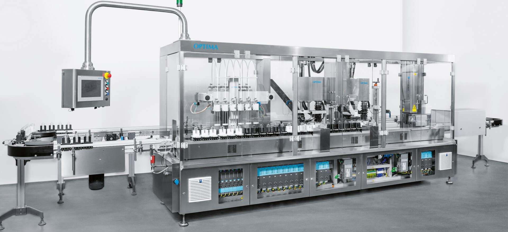 Joint project: Optima filling and packaging machine.