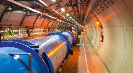 Circular tunnel in the LHC