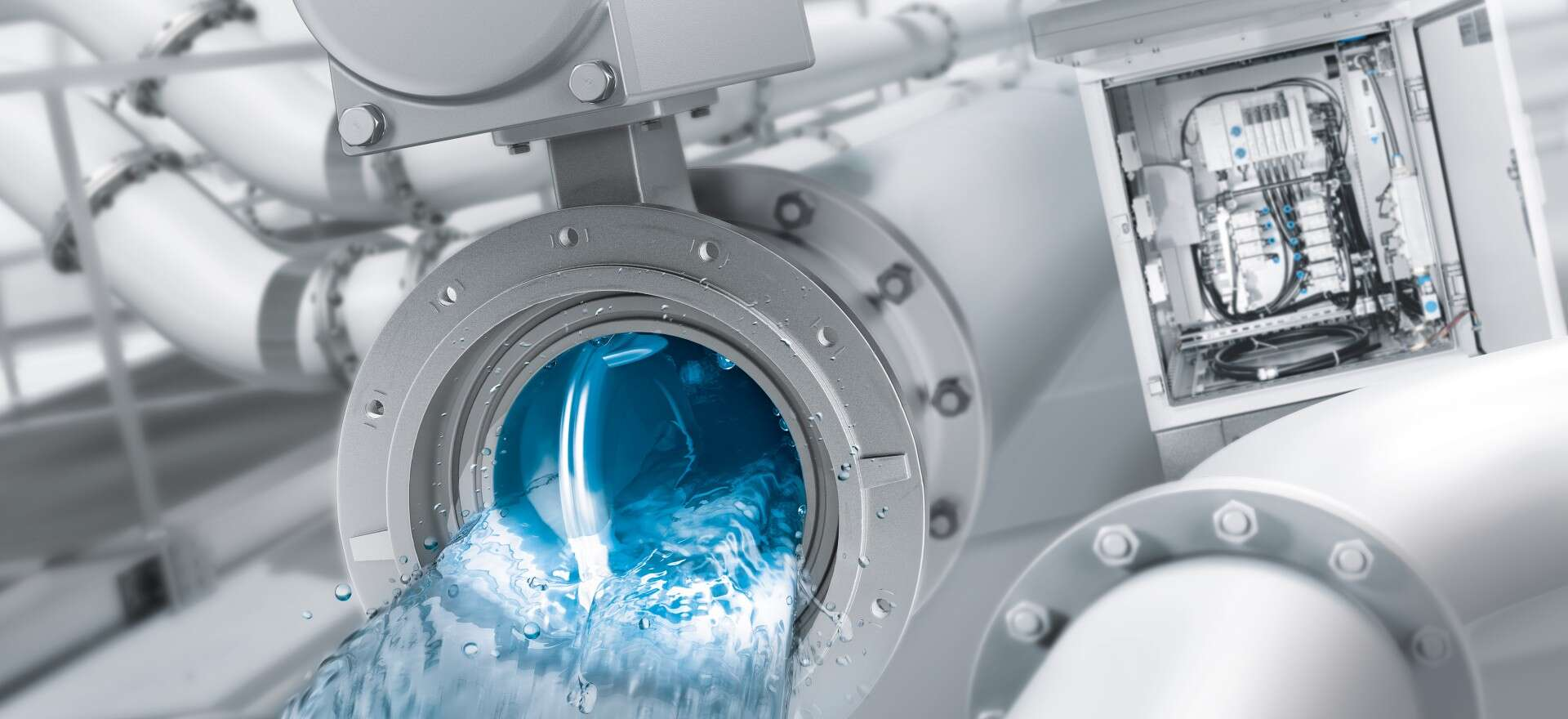 Clean automated water engineering from Festo