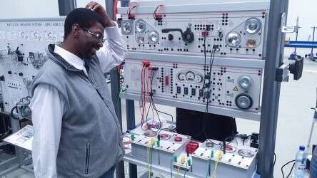 Man viewing Festo products