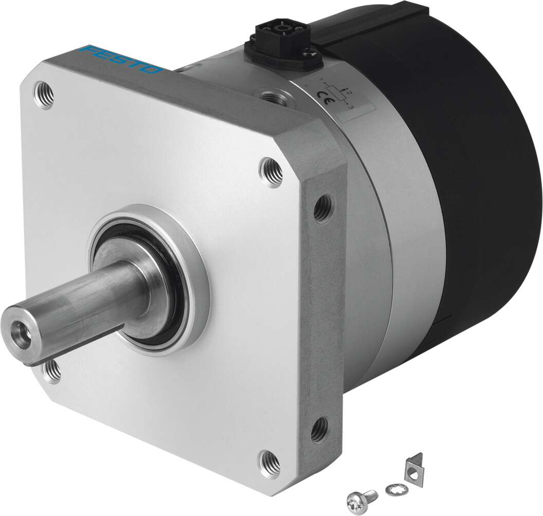 Rotary actuator with angular displacement encoder