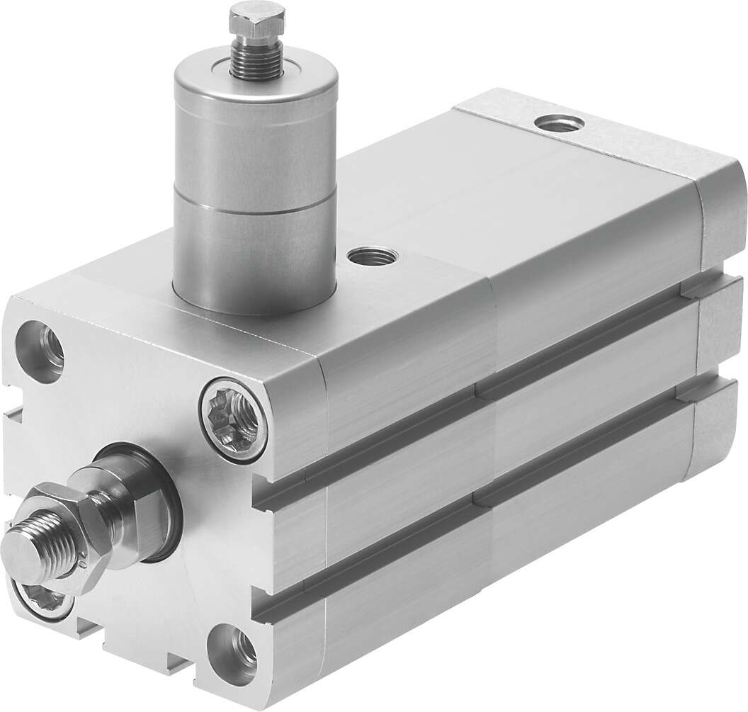 Compact air cylinder with clamping cartridge