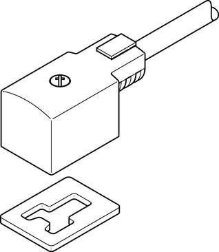 Plug socket with cable