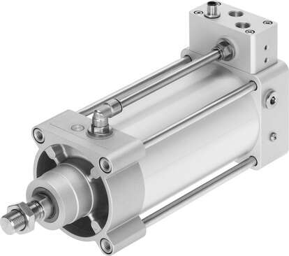 Linear actuator with displacement encoder
