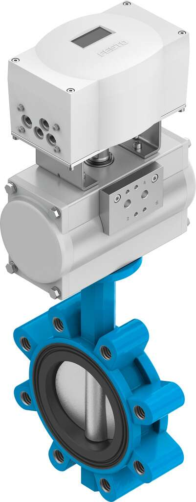 Actuated butterfly valve
