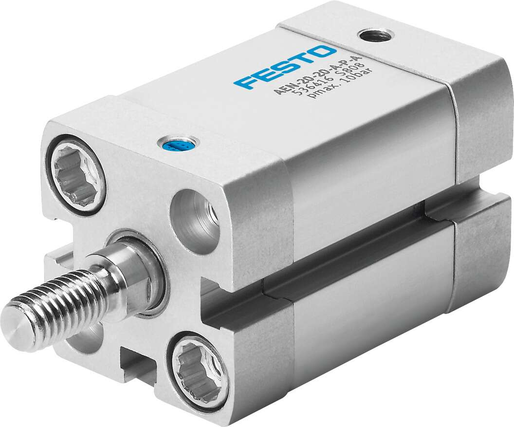 Compact air cylinder, single-acting