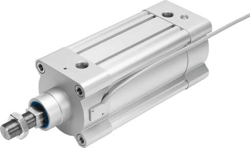 ISO cylinder with linear potentiometer