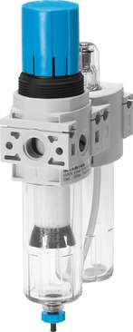 Air preparation combination unit with air line lubricator