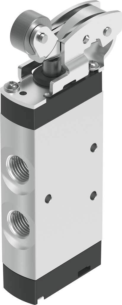 Mechanically actuated pneumatic valve, inches