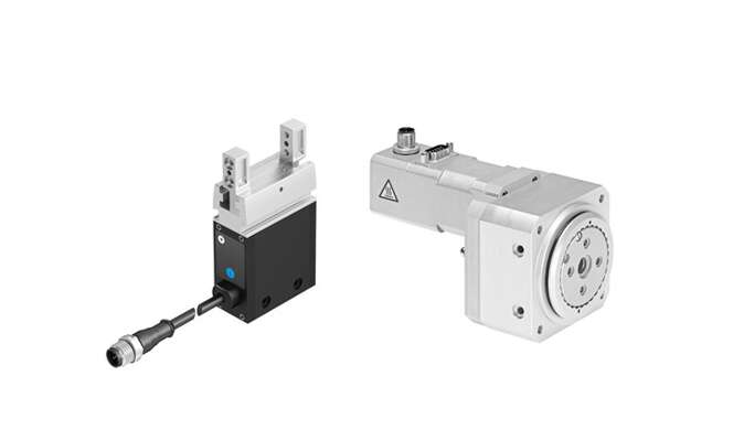 Electric standard gripper EHPS and electric rotary actuator ERMO
