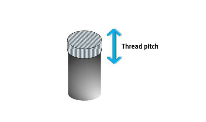 Thread pitch can be compensated for using a special adapter without any Z-axis motion.