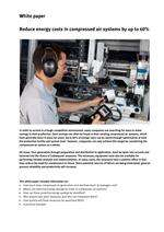 White paper: Reduce energy costs in compressed air systems by up to 60%