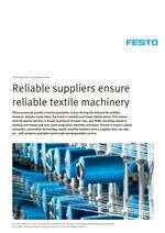 Festo Know-how in the textile industry