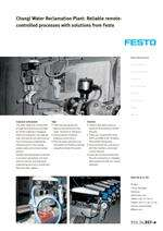 Changi Water Reclamation Plant: Reliable remotecontrolled processes with solutions from Festo