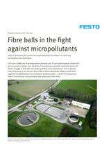 Fibre balls in the fight against micropollutants