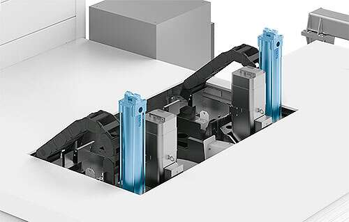 Pneumatics in balancer applications to compensate for electrical vertical movements