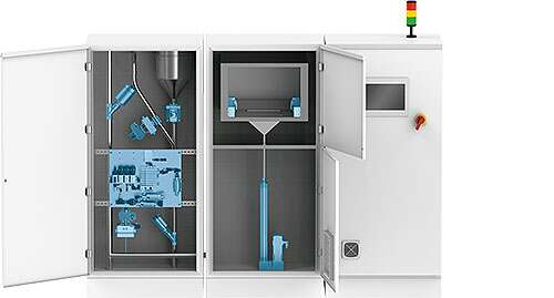 Additive manufacturing in the powder bed machine