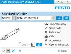 Quick search application tool