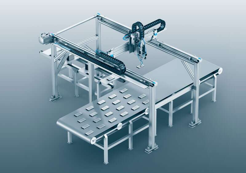 Three-dimensional gantries: assembling battery systems weighing up to 150 kg