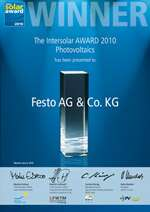 The Festo H-gantry – Winner of the Intersolar Award 2010