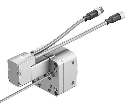 Rotary drive ERMO-16 with inductive proximity sensor SIEN-M8
