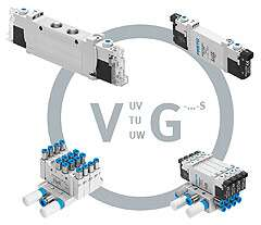 Solenoid valve from the compact range VUVG-...-S