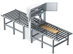 Servopneumatics from Festo: reliable feeding of wooden planks into a high-speed saw