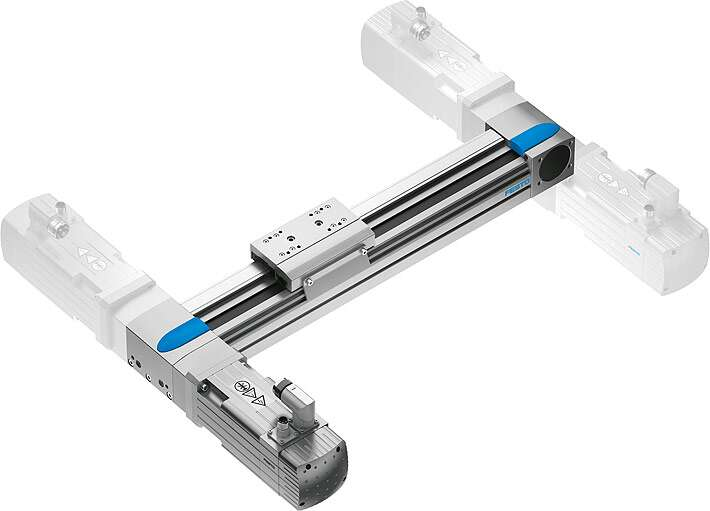 Flexible, freely selectable motor mounting on the toothed belt axis EGC-TB