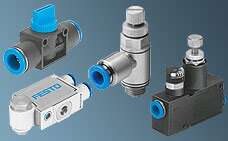 Shut-off valves, pressure regulators and flow control valves