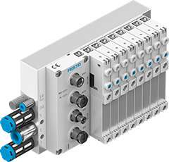 The valve terminal VTUG from Festo can be easily integrated with an electrical AP interface.