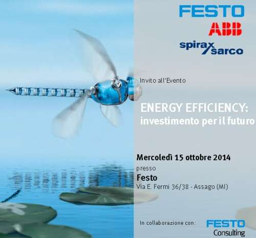 Festo Workshop Energy Efficiency 15 ottobre 2014