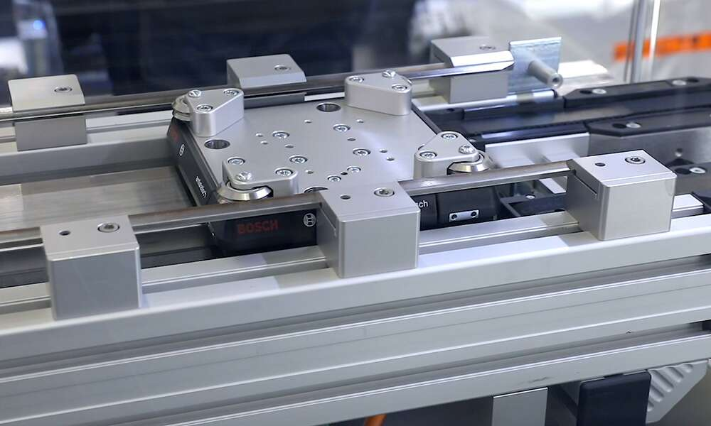 BU: MCS® integrated in the Bosch Rexroth TS 2plus, workpiece carrier size 160 to 400 mm (Bosch Rexroth standard)