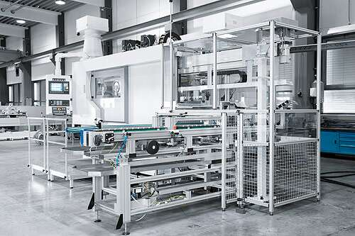 All around the machine tool